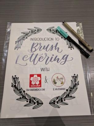 Sakura Brush Lettering Workshop Packet @ PlannerCon 2018